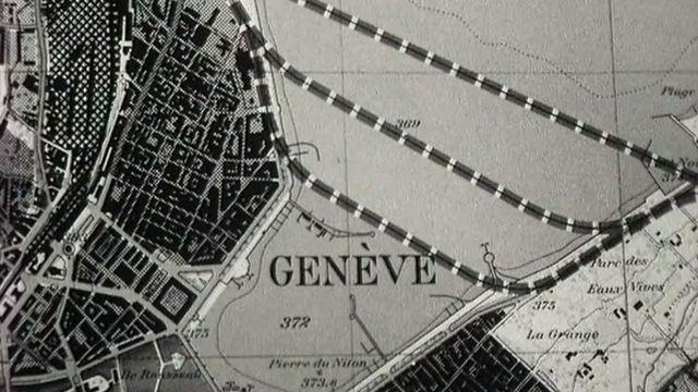 Projet de la traversée de la rade de Genève en 1964. [RTS]