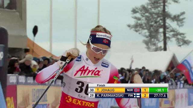 10km dames: Johaug (NOR) gagne, Fänhdrich (SUI) 27e [RTS]