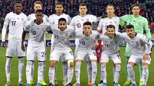 L'équipe suisse de football en novembre 2019. [Walter Bieri - Keystone]