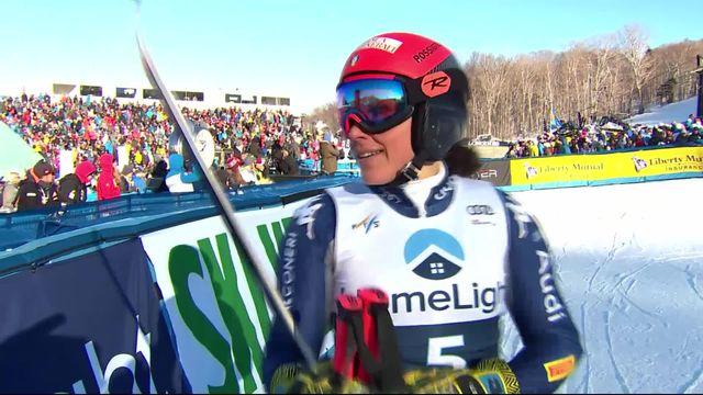 Killington (USA), géant dames: Federica Brignone (ITA) sur la 2e marche du podium [RTS]