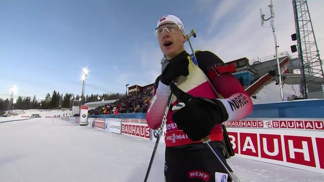 Östersund (SUE), sprint messieurs: Johannes Thingnes Boe (NOR) gagne devant son grand frère [RTS]