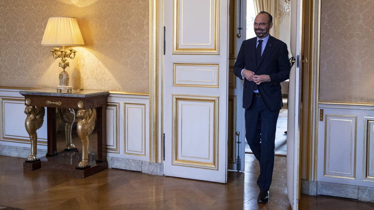 Edouard Philippe réunit tous ses ministres avant le début d'une grève prévue jeudi. [EPA/Thomas Samson - Keystone]