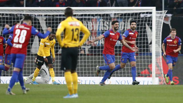 Le FC Bâle a inscrit 3 buts face aux Bernois. [Peter Klaunzer - Keystone]