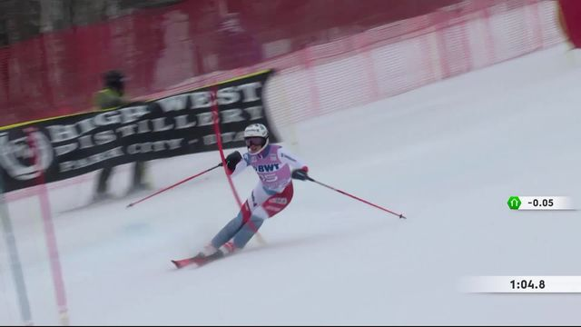 Killington (USA), slalom dames: Michelle Gisin (SUI) [RTS]