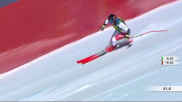 Lake Louise (CAN), Super G messsieurs: Mauro Caviezel (SUI) [RTS]