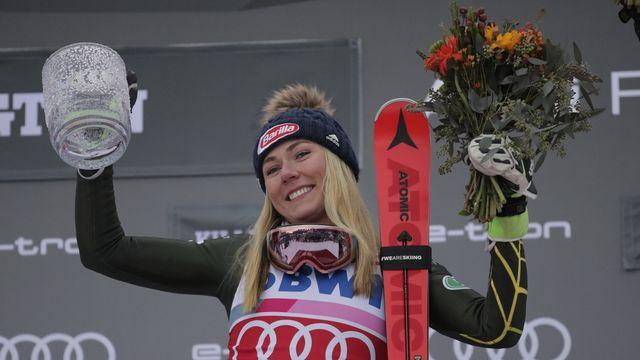 Shiffrin est désormais la 2e skieuse la plus titrée de l'histoire de la Coupe du monde. [Charles Krupa - Keystone]