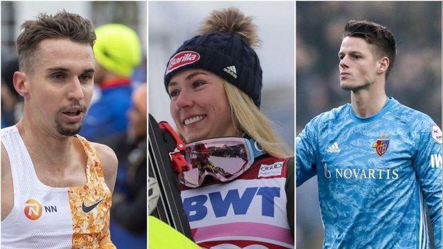 Le top-3 du week-end: Julien Wanders, Mikaela Shiffrin et le FC Bâle. [Keystone]