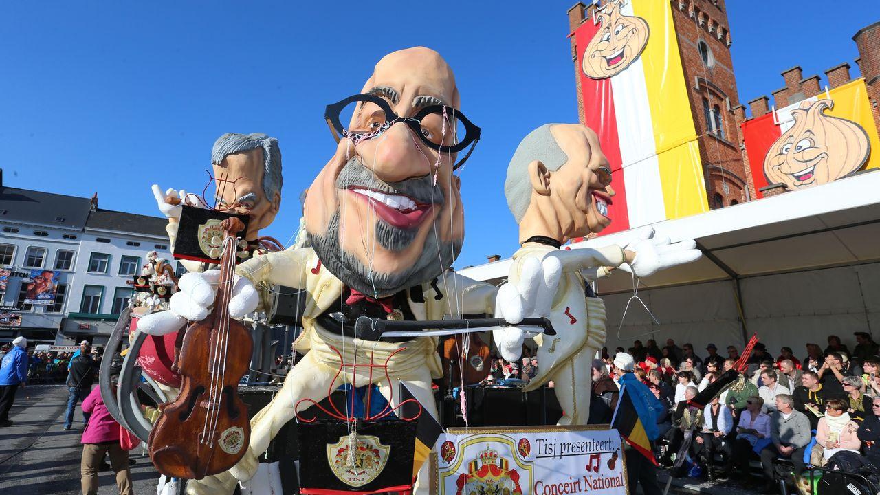 Le Carnaval d'Alost, au nord de la Belgique, est vieux de 600 ans. [Nicolas Maeterlinck - AFP]