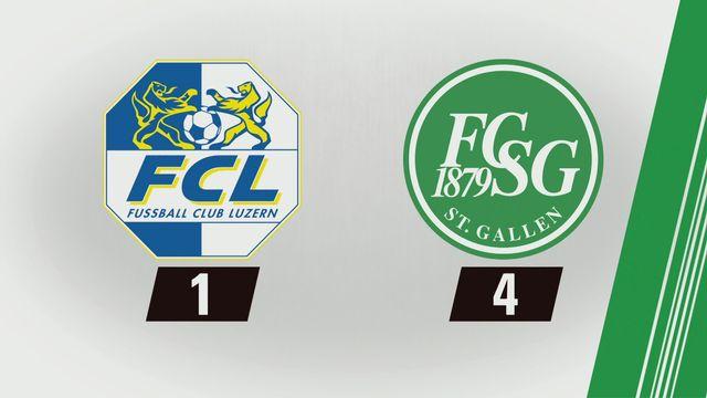 Super League, 16e journée: Lucerne - St-Gall (1-4) [RTS]
