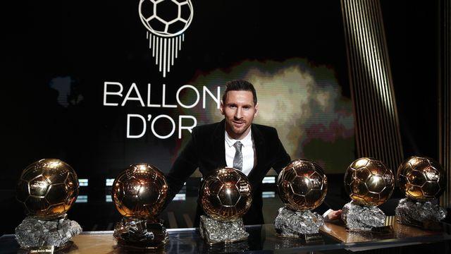 Messi devant ses six ballons d'or [YOAN VALAT - Keystone]
