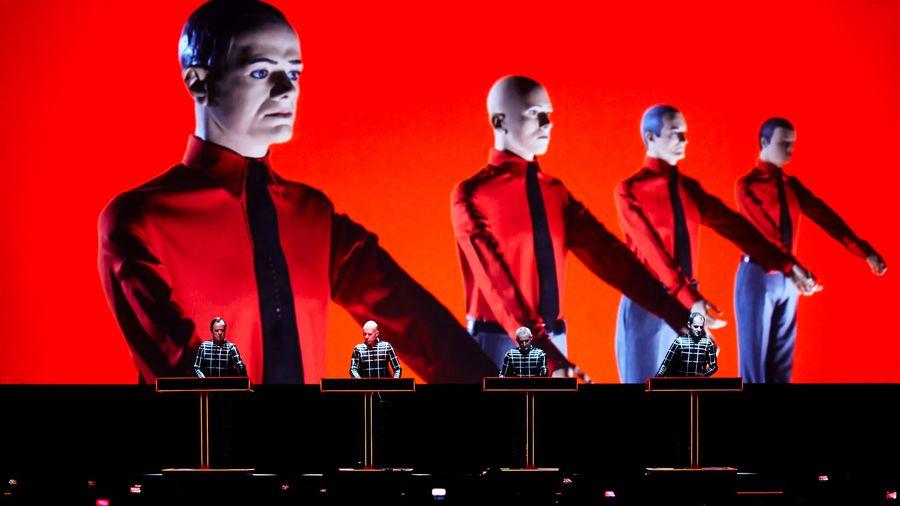 Le groupe album Kraftwerk, pionnier de la musique électronique.