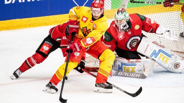 Luca Cunti et ses coéquipiers ont remporté le match aller en Suède. [Michael Erichsen - freshfocus]