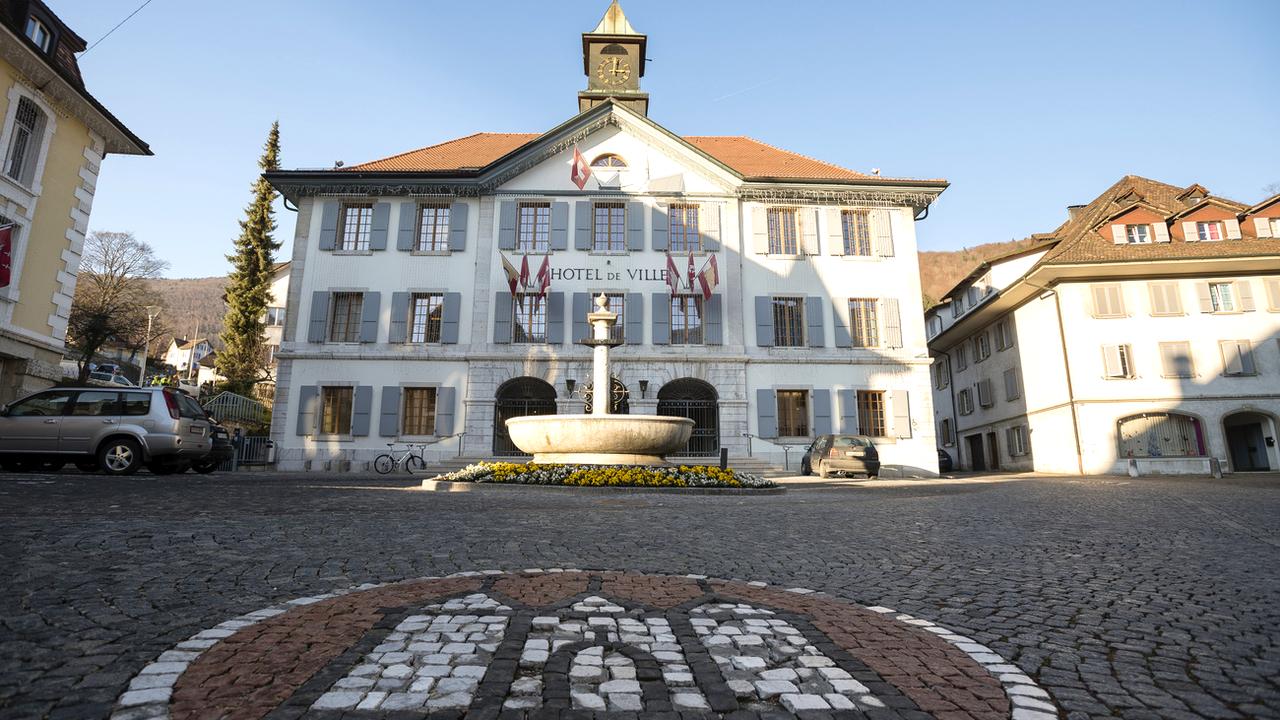 L'Hôtel de ville de Moutier.. [Stefan Meyer - Keystone]