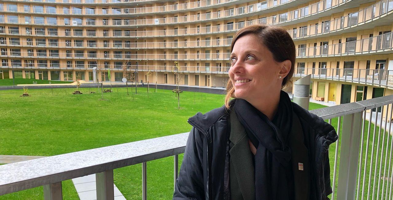 Virginie Faivre, présidente de Lausanne 2020, a donné rendez-vous à RTSsport au Vortex. [RTS]