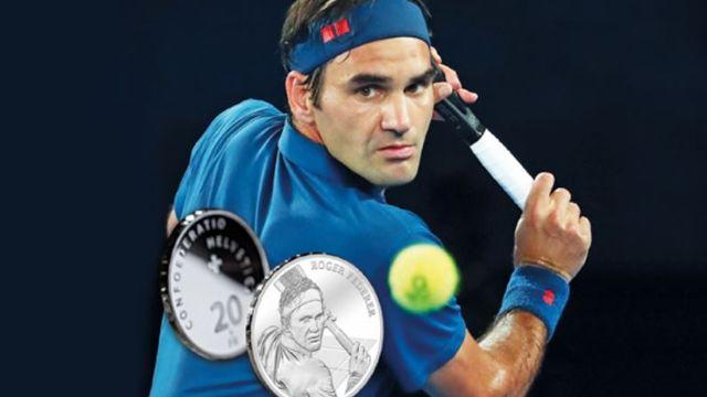 Federer avait déjà eu les honneurs d'un timbre en 2007. [swissmint.ch - SRI]