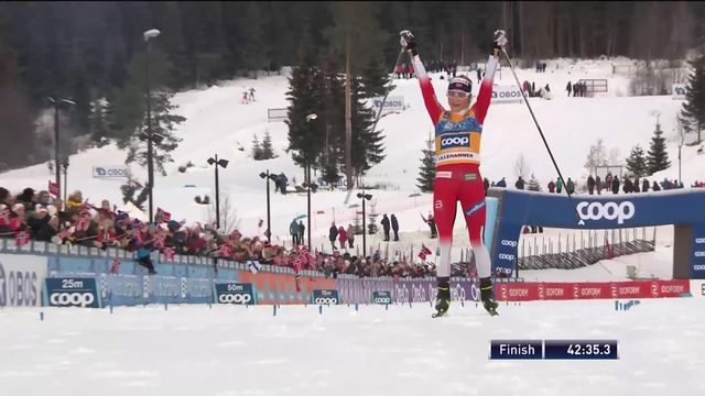 Lillehammer (NOR), 15km dames: victoire de Therese Johaug (NOR) [RTS]