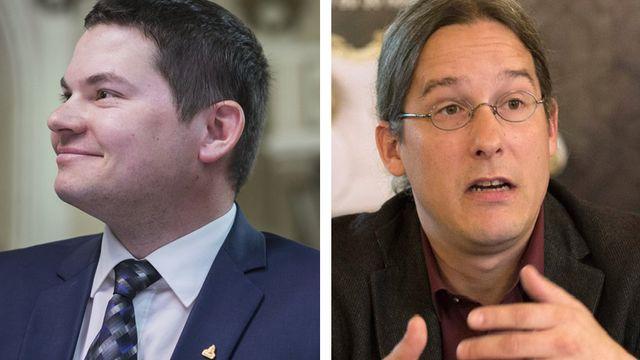 Grégory Logean et Emmanuel Amoos. [Keystone]