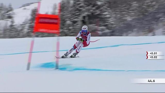 Lake Louise (CAN), descentes dames: Corinne Suter (SUI) [RTS]