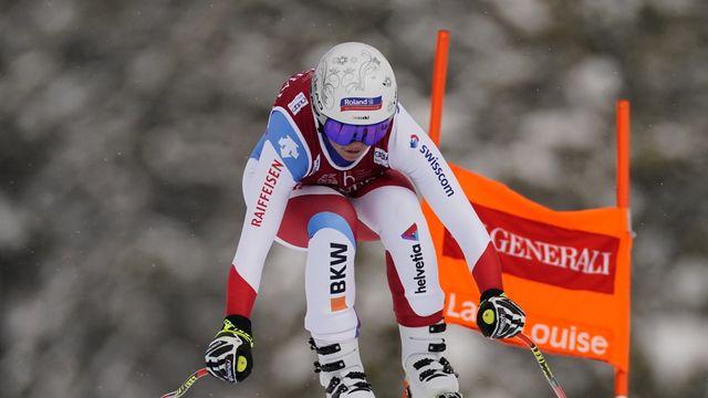 Corinne Suter s'est classée 5e pour la 2e descente à Lake Louise. [Frank Gunn - Keystone]