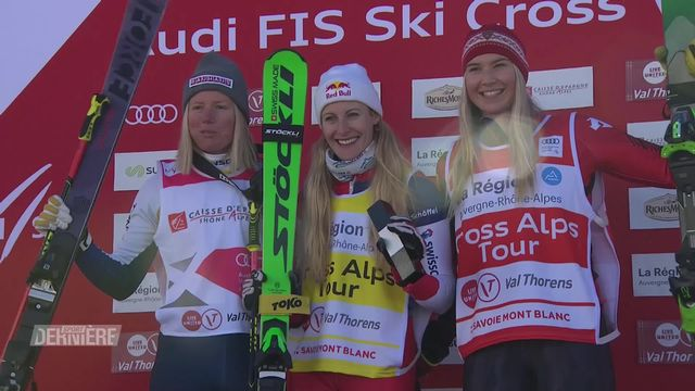 Skicross: victoire de Fanny Smith (SUI) à Val Thorens (FR) [RTS]