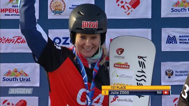 Snowboard, slalom parallèle: première place de Julie Zogg (SUI) à Bannoye (RUS) [RTS]