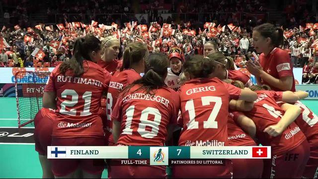 Groupe A, Suisse - Finlande (7-4): belle victoire de la Suisse [RTS]