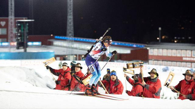 Selina Gasparin, accompagnée de ses deux soeurs et Lena Häcki, ont pris une belle 2e place à Östersund. [freshfocus - Christian Manzoni]