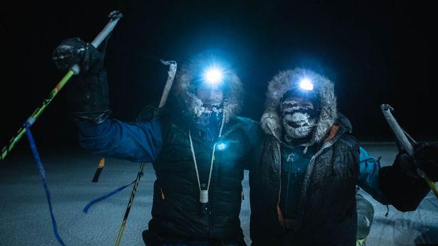 Les deux aventuriers ont bouclé leur expédition au Pôle Nord, non sans quelques difficultés. [Etienne Claret - AFP]