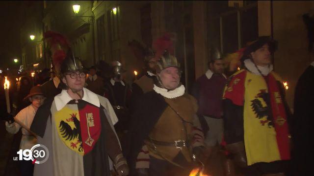 Le Cé qu'é Laino, hymne des Genevois, fait vibrer les cœurs pendant le cortège historique de l'Escalade [RTS]