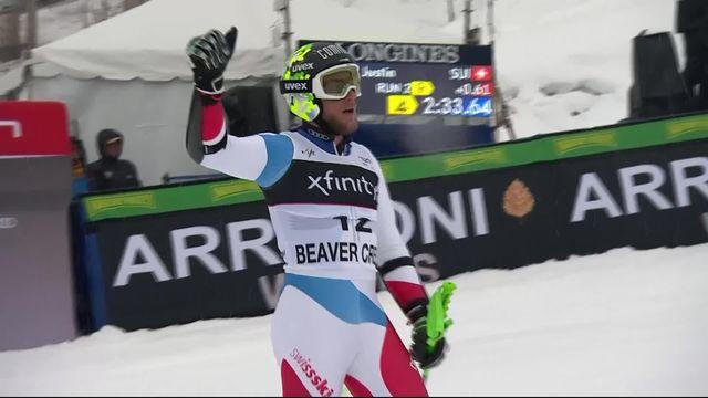 Beaver Creek (USA), géant messieurs, 2e manche: 4e place provisoire pour Justin Murisier (SUI) [RTS]