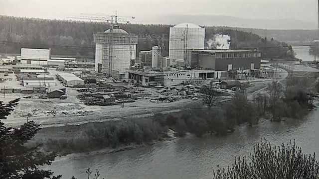 Construction de la centrale nucléaire de Beznau en 1969 [RTS]