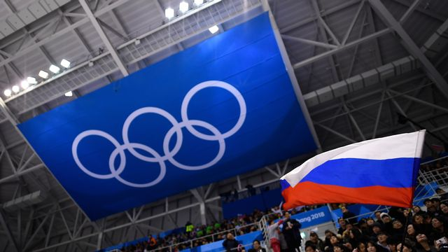 Le drapeau russe ne flottera pas à Tokyo en 2020, ni à Pékin en 2022. [Brendan Smialowski - AFP]