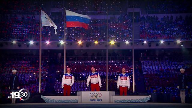 Impliquée dans un scandale de dopage, la Russie est bannie des compétitions internationales pour quatre ans. [RTS]