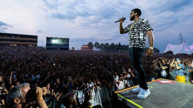 Le rappeur belge Damso au Paléo Festival de Nyon, le 26 juillet 2019. [Laurent Reichenbach - Paléo 2019]
