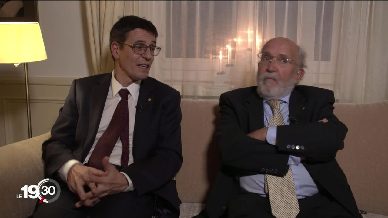 Michel Mayor et Didier Queloz, deux prix Nobel sur une autre planète à Stockholm [RTS]