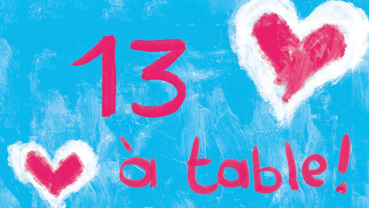 """La couverture du livre """"13 à table!"""". [Pocket]"""