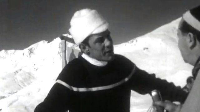 Roger Staub, le skieur volant, 1963 [RTS]
