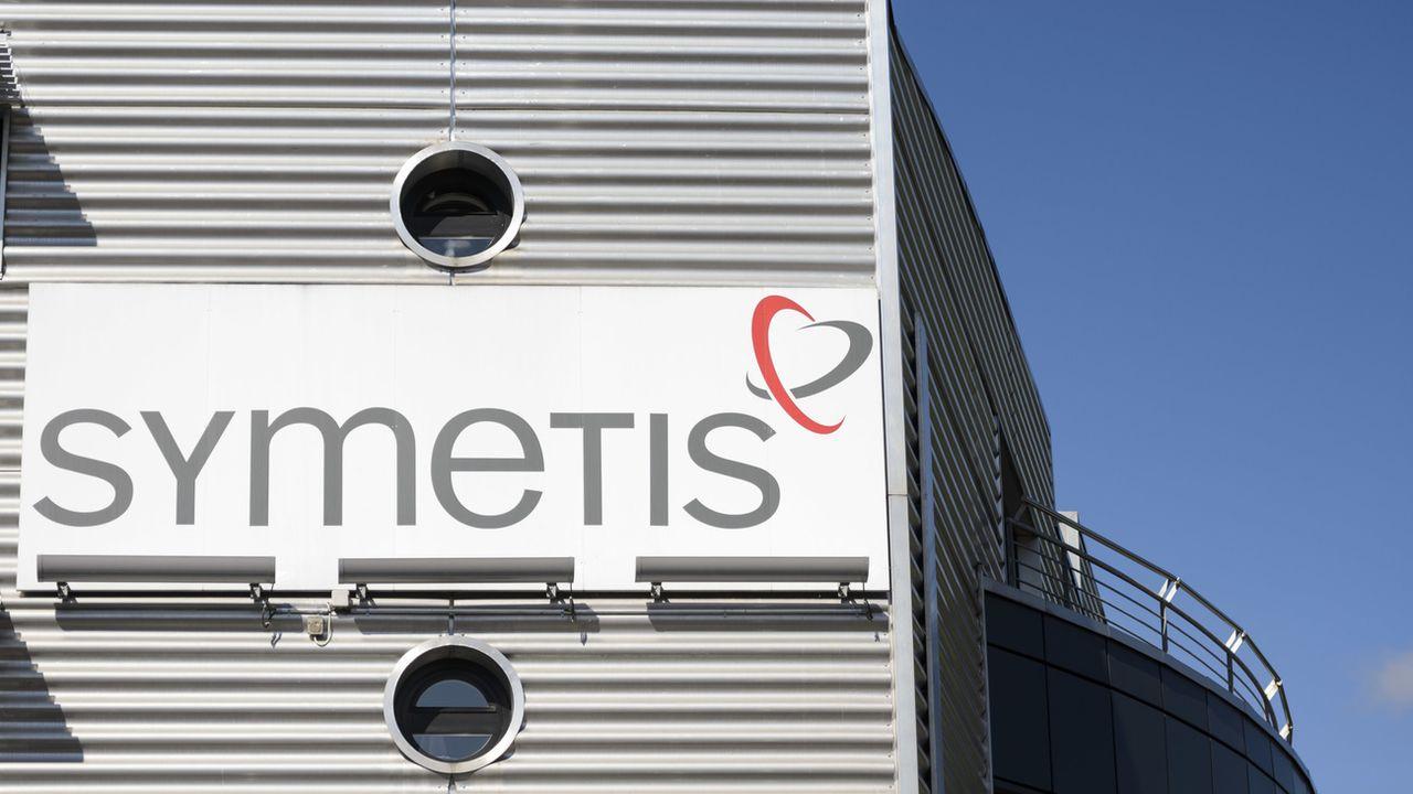 Le logo de Symetis. [Laurent Gillieron - Keystone]