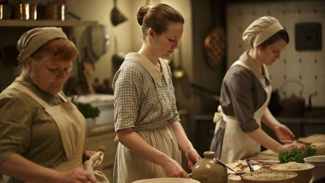 """Une image tirée de la saison 4 de """"Downton Abbey"""". [Carnival Film & Television / Collection ChristopheL/AFP]"""