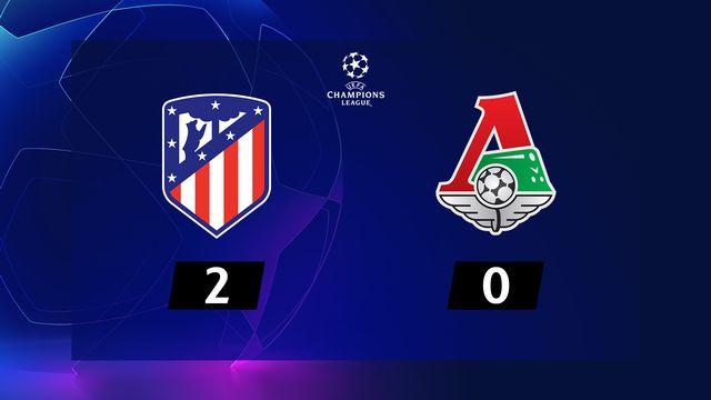 6ème journée, Atlético Madrid - Lok.Moscou (2-0): l'Atlético assure sa place en 1-8