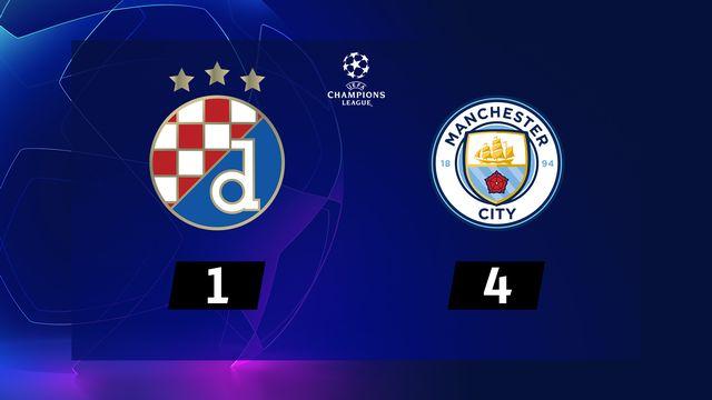 6ème journée, Dinamo Zagreb - Manchester City (1-4): triplé de Gabriel Jesus, élimination du Dinamo