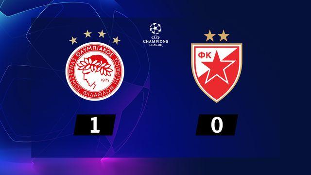 6ème journée, Olympiakos - ER Belgrade (1-0): les Grecs s'imposent et se qualifient pour l'Europa League