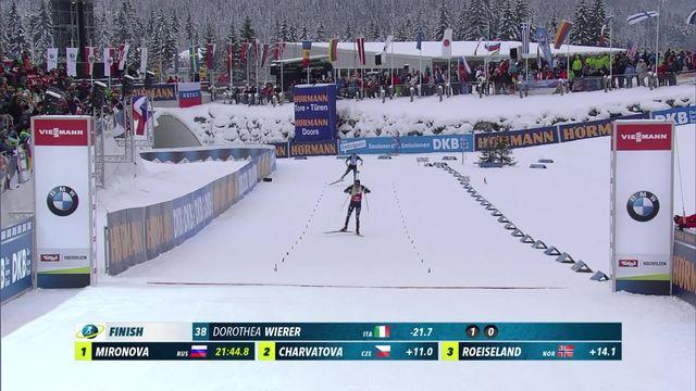 Hochfilzen (AUT), sprint dames: la victoire pour Dorothea Wierer (ITA), les Suissesses pas dans le coup [RTS]