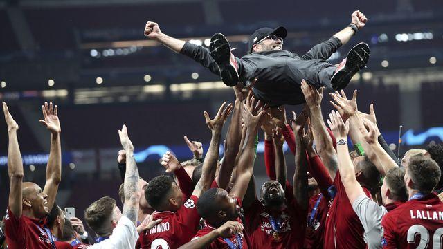 Jurgen Klopp est devenu une véritable légende vivante à Liverpool, lui qui a ramené une 6e Ligue des champions. [Francisco Seco - Keystone]