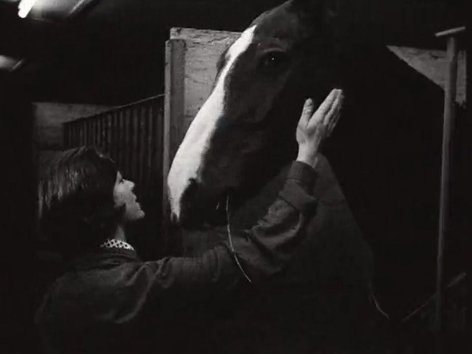 La cavalière Monika Bachmann en 1967. [RTS]