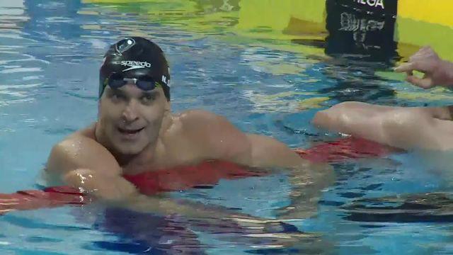 50m papillon petit bassin: victoire de Nicholas Santos, recordman du monde de la discipline [RTS]