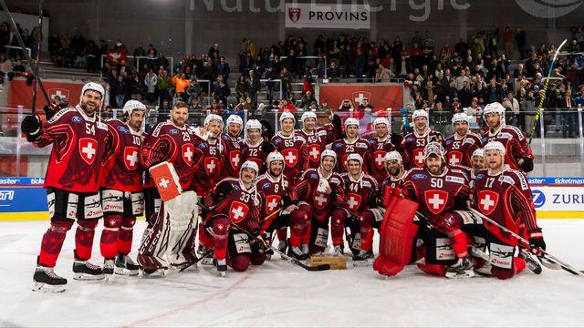 Les Suisses ont le sourire après leur large victoire face à la Russie. [Pascal Muller - Freshfocus]