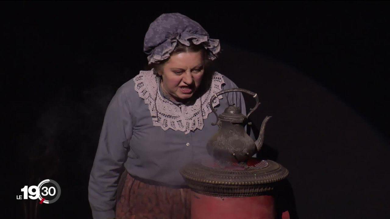 """Le roman de Charles Dickens """"Un conte de Noël"""" adapté au théâtre par Claude-Inga Barbey. [RTS]"""