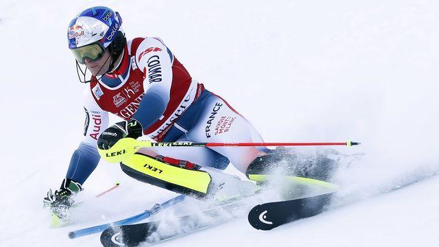Alexis Pinturault a été tout simplement impérial sur la neige de Val-d'Isère. [Sébastien Nogier - Keystone]