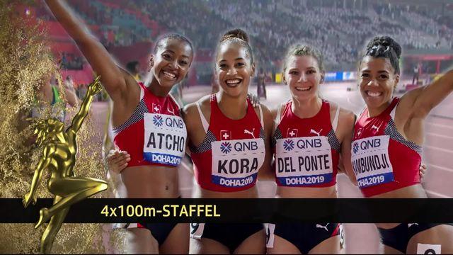 Le 4x100m féminin remporte le prix de l'équipe de l'année [RTS]